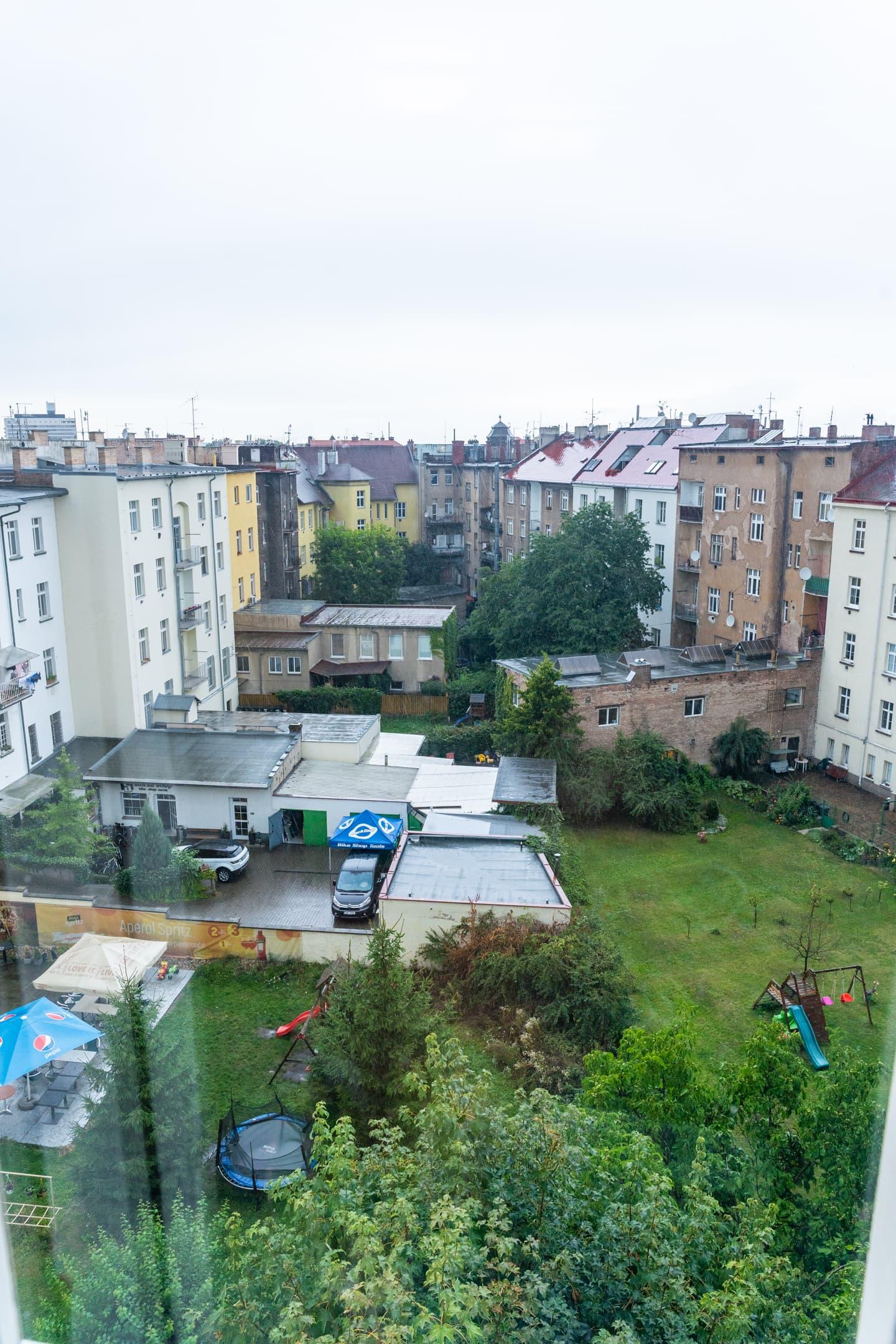 výhled z okna 5NP Hradec Králové